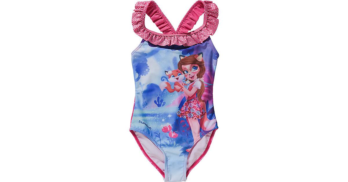 Enchantimals Kinder Badeanzug pink Gr. 98/104 Mädchen Kleinkinder