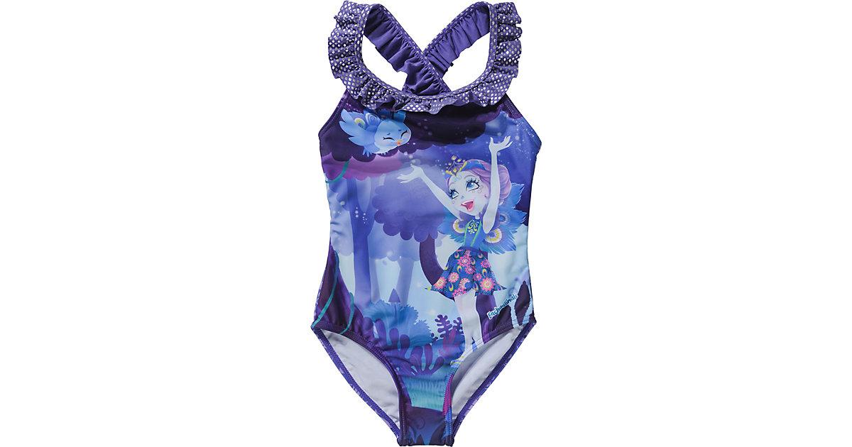 Enchantimals Kinder Badeanzug lila Gr. 98/104 Mädchen Kleinkinder