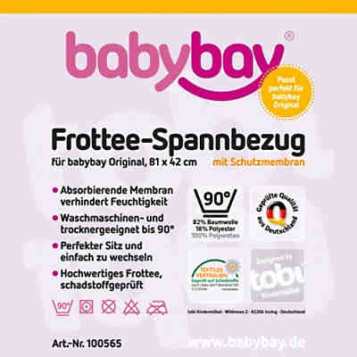 Weiss Spannbettlaken Mit Membran Fur Babybay Original Frottee 2