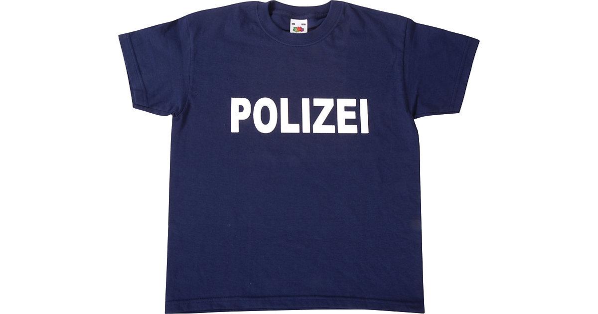 T-Shirt Polizei dunkelblau Gr. 128 Jungen Kinder