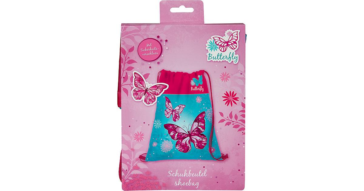 Sportbeutel Butterfly türkis/pink
