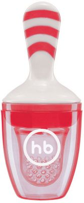 Ниблер с силиконовой сеточкой Happy Baby, красный