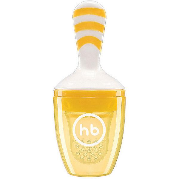 Ниблер с силиконовой сеточкой Happy Baby, жёлтый