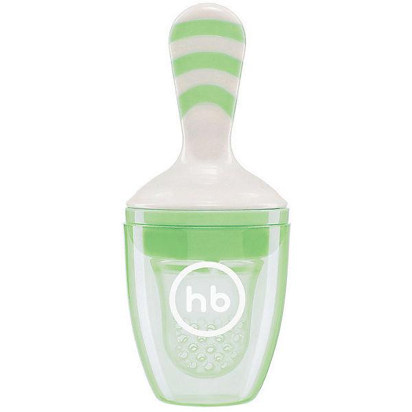 Ниблер с силиконовой сеточкой Happy Baby, зелёный