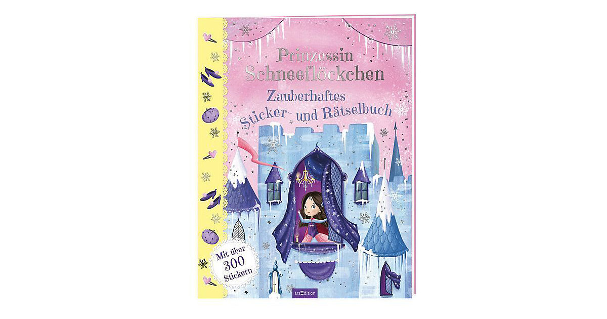 Buch - Prinzessin Schneeflöckchen: Zauberhaftes Sticker- und Rätselbuch