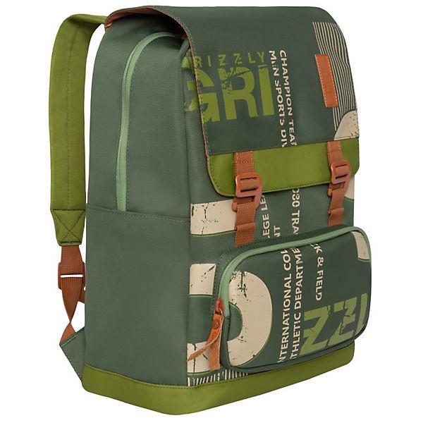 Рюкзак Grizzly, хаки - оливковый