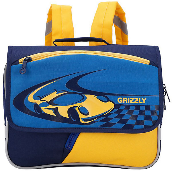 Рюкзак детский Grizzly, синий - синий - желтый