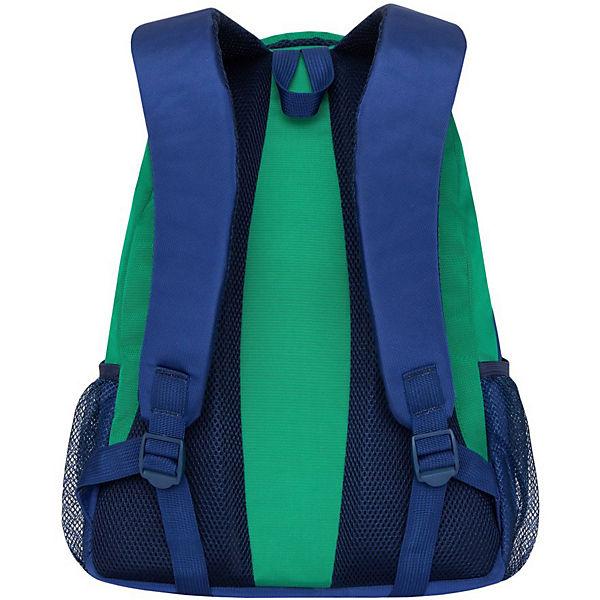 Рюкзак Grizzly, зеленый - синий