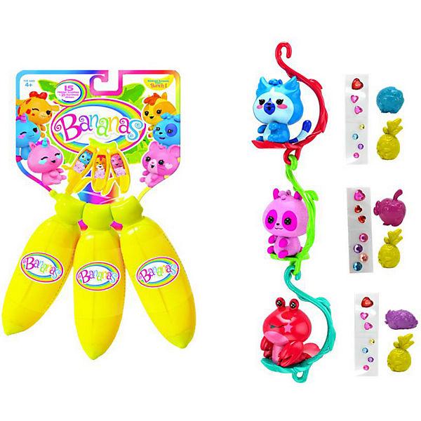 """Игровой набор Cepia """"Bananas"""" 3 жёлтых банана с сюрпризом"""