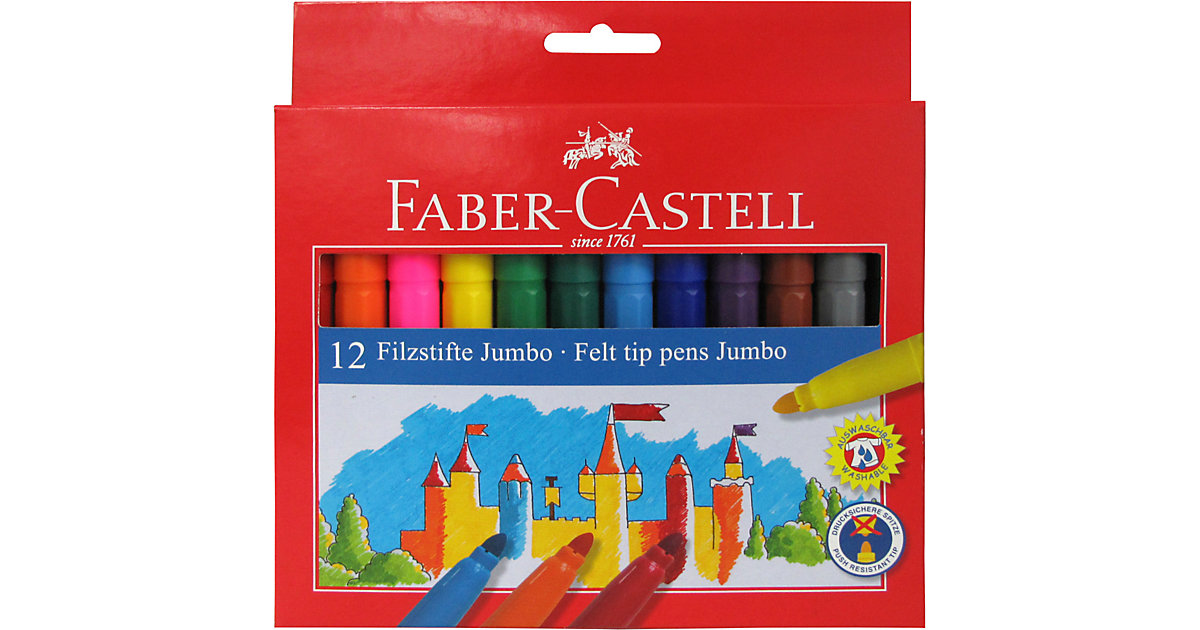 Filzstifte JUMBO, 12 Farben