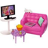 """Набор мебели для кукол Barbie """"Отдых дома"""" Гостиная"""