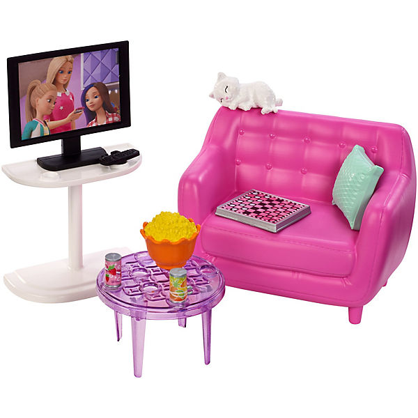 Barbie Möbel Spielset Wohnzimmer Barbie Mytoys