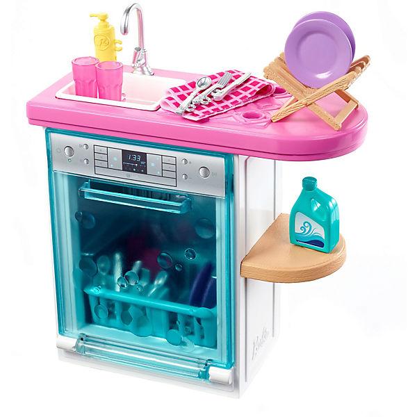 Barbie Möbel-Spielset Spülmaschine, Puppenhaus Zubehör, Barbie accEJF