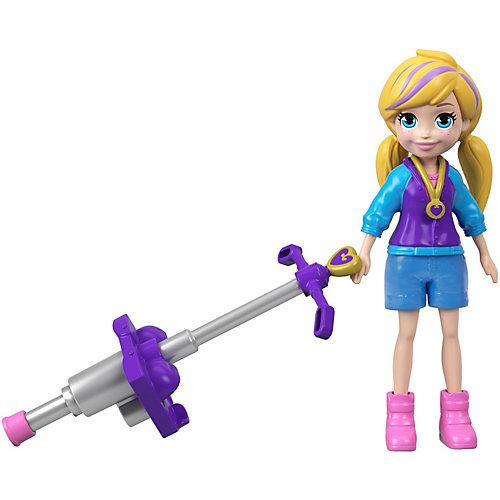 Мини-кукла Polly Pocket Active, Полли с пого-стиком от Mattel