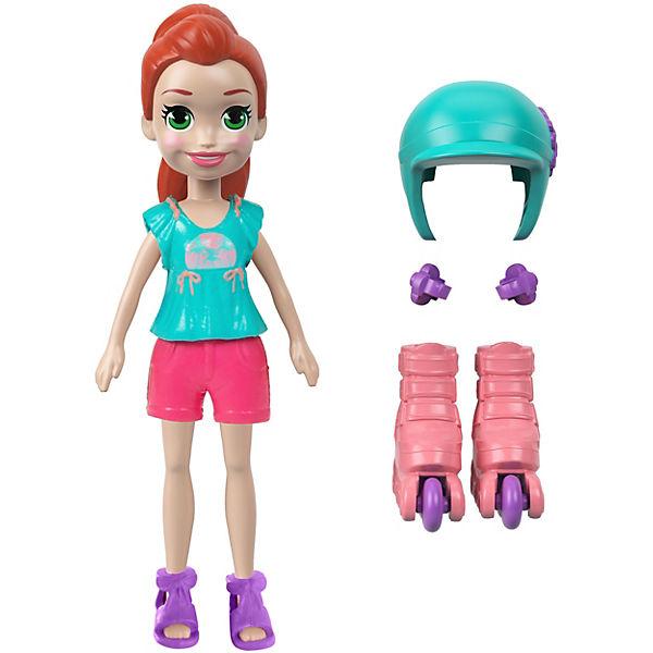Мини-кукла Polly Pocket Active, Лайла на роликах