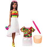 """Набор с куклой Barbie x Crayola """"Фруктовый сюрприз"""", брюнетка"""