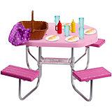 """Набор мебели для кукол Barbie """"Отдых на природе"""" Стол для пикника"""