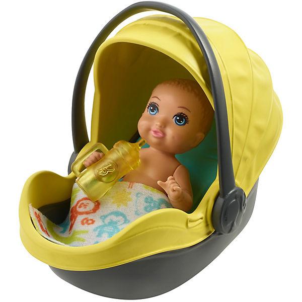 """Игровой набор Barbie """"Скиппер няня"""" Малыш с жёлтой коляской"""