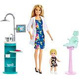 Кукла Barbie из серии «Кем быть?» Стоматолог