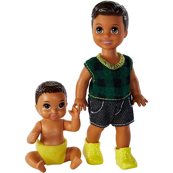 "Мини-куклы Barbie ""Скиппер няня"" Два брата"