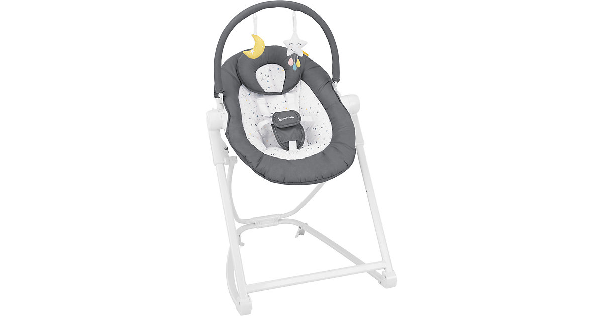 Badabulle · Babywippe Compact´up Moonlight, weiß/zink