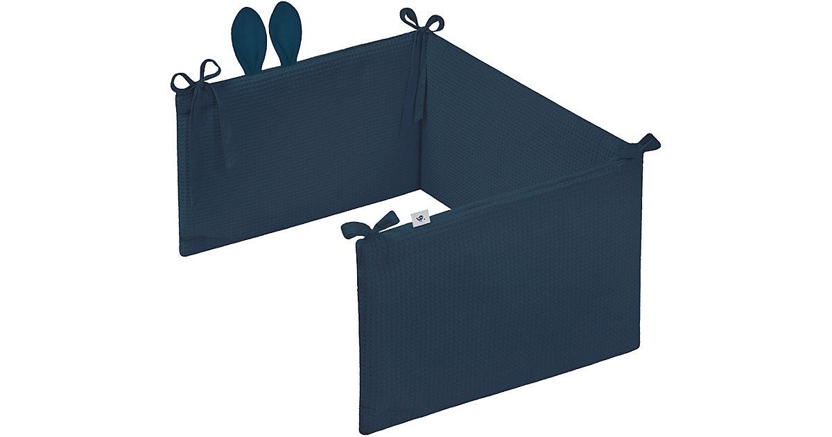 ZÖLLNER · Nestchen Waffelpiqué mit Ohren, Night Blue, 180 cm