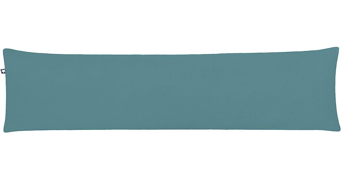 ZÖLLNER · Seitenschläferkissen Waffelpiqué, Greenery, 40 x 160 cm