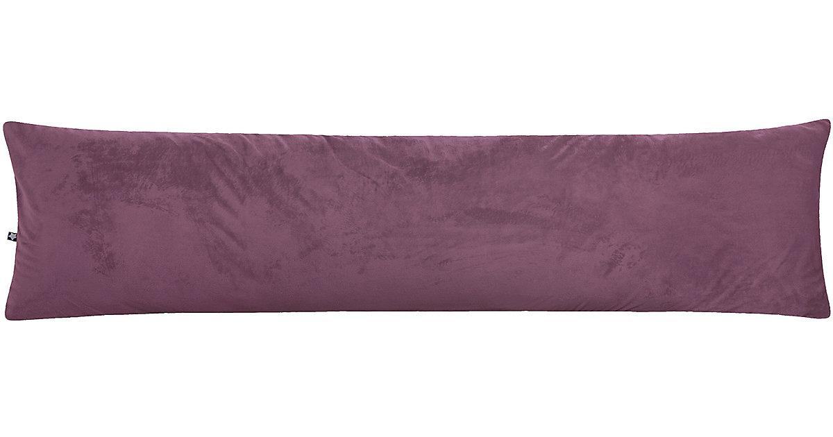 ZÖLLNER · Seitenschläferkissen Samt, Dark lilac, 40 x 160 cm