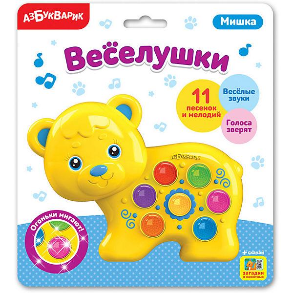 """Музыкальная игрушка Азбукварик """"Веселушки"""" Мишка"""