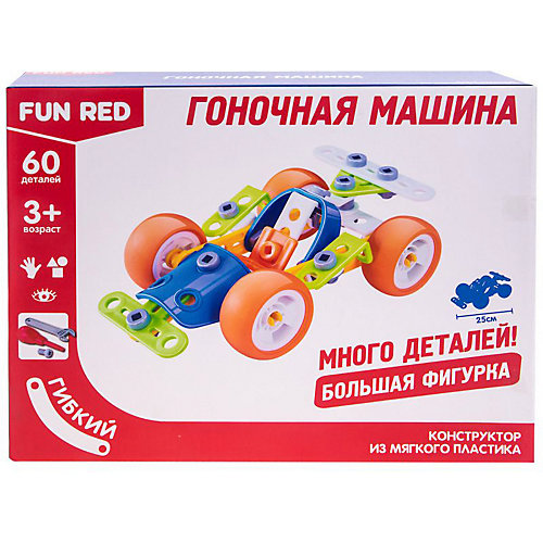 Гибкий конструктор Fun Red Гоночная машина, 60 деталей от Fun Red