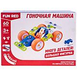 Гибкий конструктор Fun Red Гоночная машина, 60 деталей