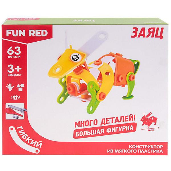 Гибкий конструктор Fun Red Заяц, 63 детали