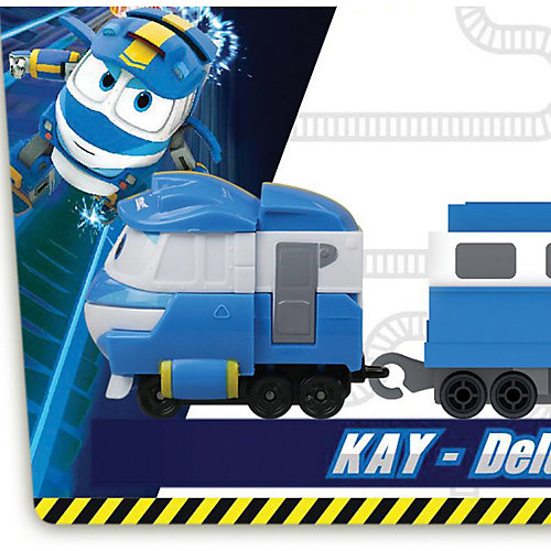 Паровозик с двумя вагонами Silverlit Robot Trains Кей от Silverlit