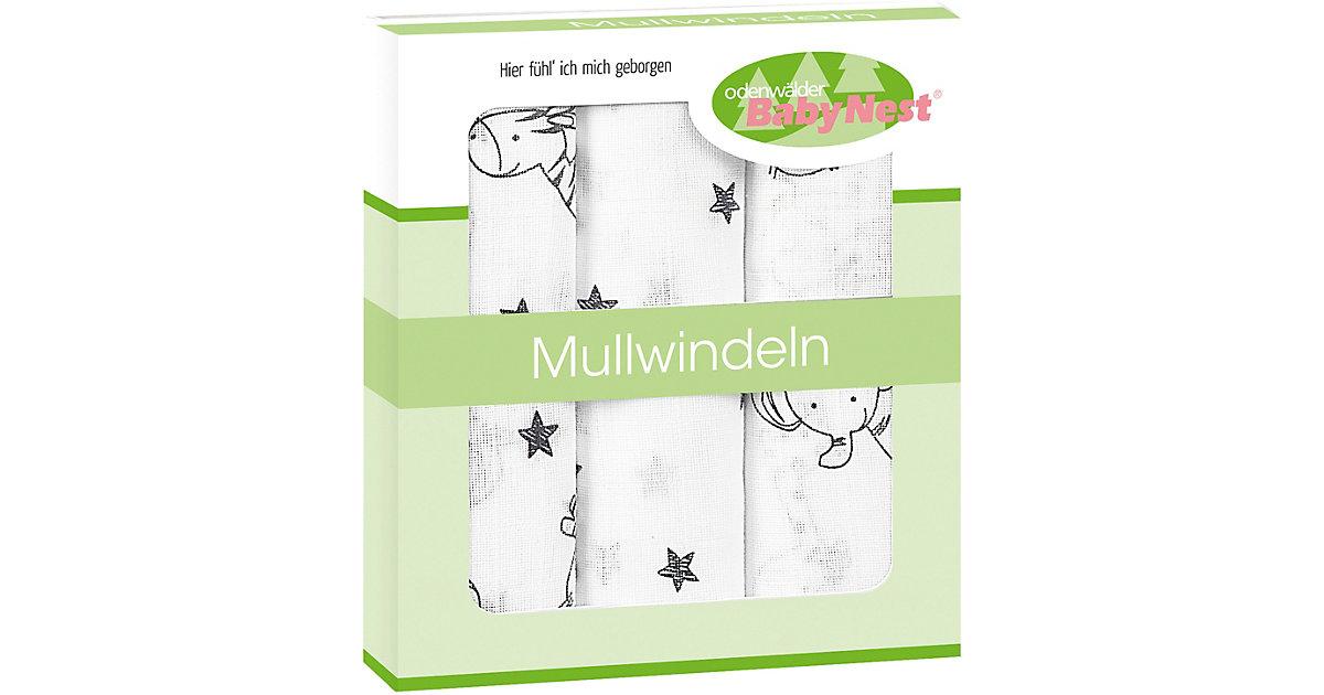 Odenwälder · Mullwindelnindeln Animal Farm, 3er Pack, anthrazit, 80 x 80 cm