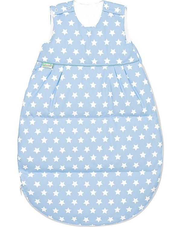 verkauft beste Wahl Einkaufen Winter- Schlafsack Daunen Thermo-Nest white Stars, cool blue, 130 cm,  Odenwälder
