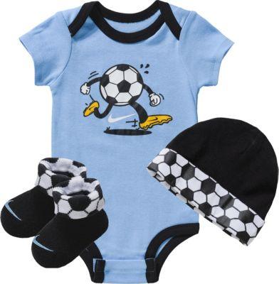 Baby Set SWOOSH SPORT BALL: Strampler + Mütze + Haussocken für Jungen, NIKE