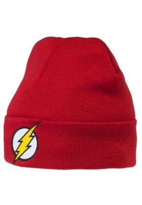 rot Flash Logo Kindermütze DC Comics Strickmütze LOGOSHIRT Winter