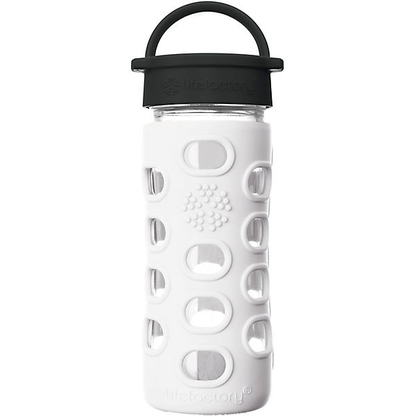 Lifefactory Glas-Trinkflasche, Classic Cap, arctic white, 350ml