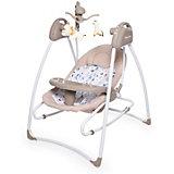 Электрокачели Baby Care Butterfly 2 в 1, бежевые