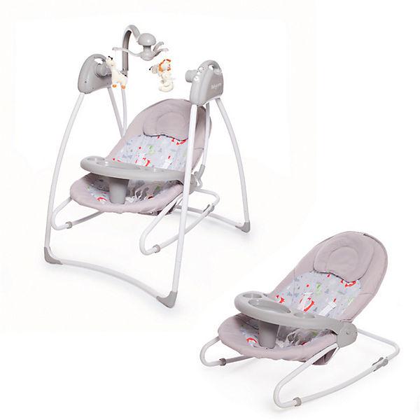 Электрокачели Baby Care Butterfly 2 в 1, серые