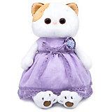 Мягкая игрушка Budi Basa Кошечка Ли-Ли в лавандовом платье, 24 см