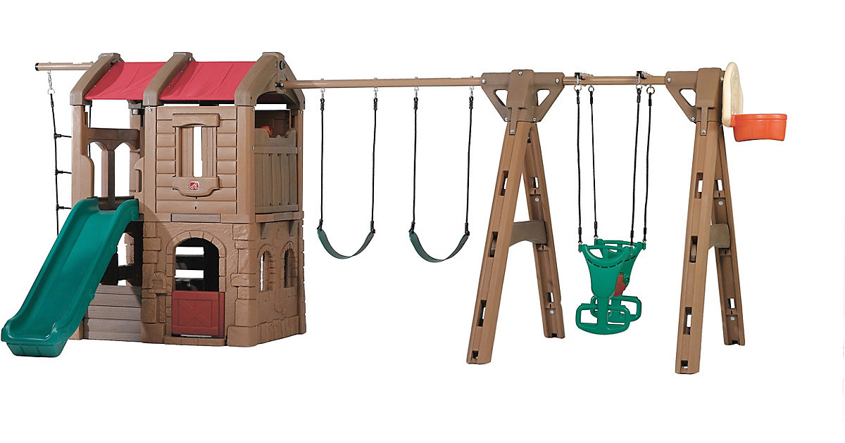 Spielturm Adventure Lodge mit Schaukeln