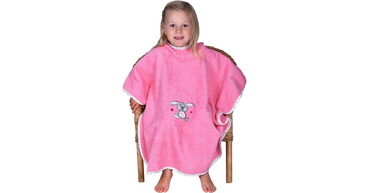 Wörner · Badeponcho, Hase, pink, 75 x 120 cm Mädchen Kleinkinder