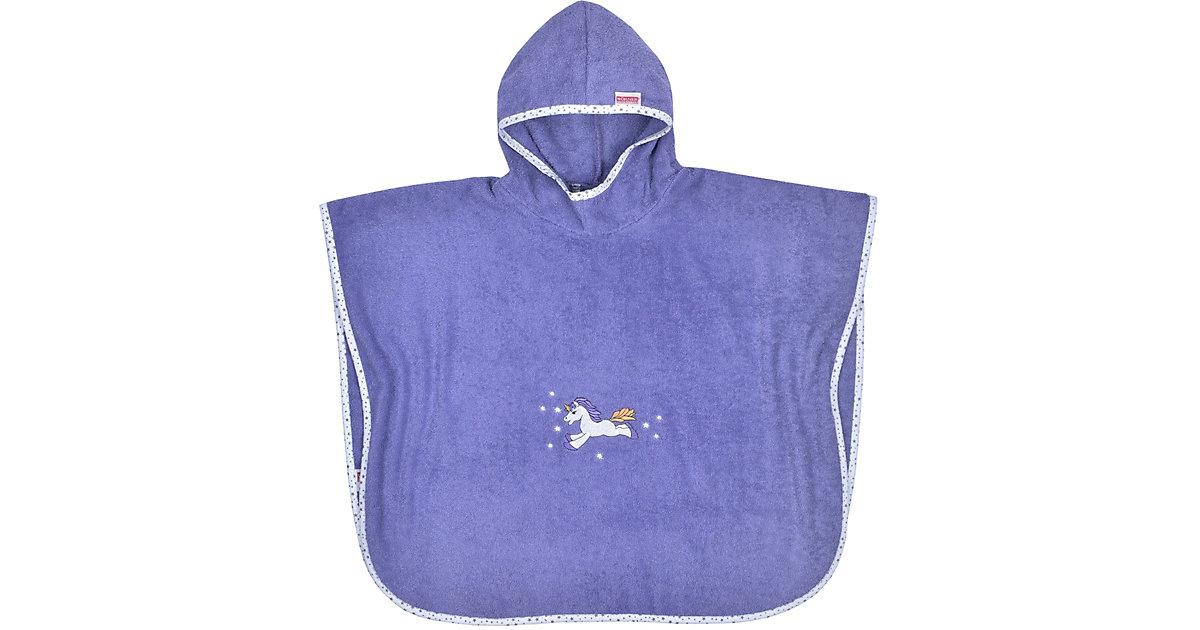 Badeponcho, Einhorn, violett, 75 x 60 cm balticblau Gr. 75 x 120 Mädchen Kleinkinder