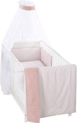 Alvi Bettwäsche für Kinderbett Raute rosa 100x135 cm TOP