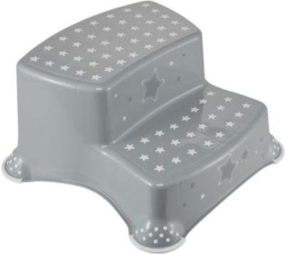 Keeeper Hippo Tritthocker zweistufig mit Anti-rutsch-Funktion weiß