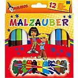 Набор двухцветных фломастеров Malinos Malzauber меняющих цвет. (10 шт.+ 2 волшебных белых фломастера.)