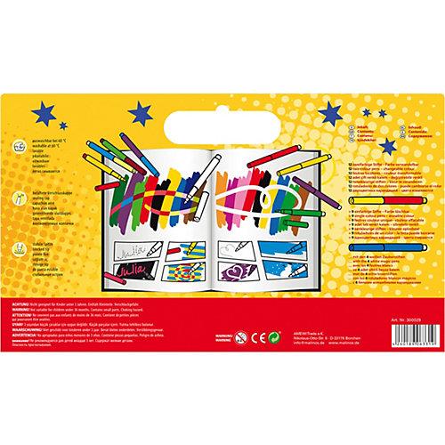 Набор: двухцветные (меняющие цвет) фломастеры и  фломастеры со стираемым цветом Malinos Malzauber, 25 шт. от Malinos