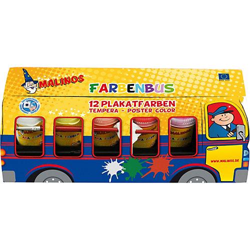 """Набор темперных красок """"Автобус"""" Malinos Farben Bus 12 цветов от Malinos"""
