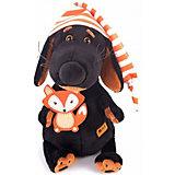 Мягкая игрушка Budi Basa Собака Ваксон в колпачке и с лисичкой, 25 см